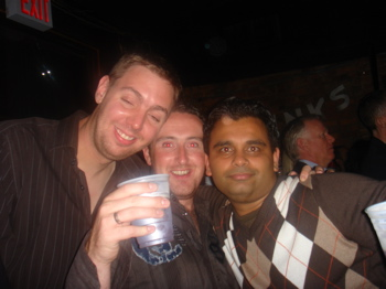 Paul, Luke, and Rohit at Calvin Harris