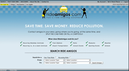 Rideamigos Home Page